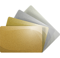 Coloured Plastic (metalic or plain)